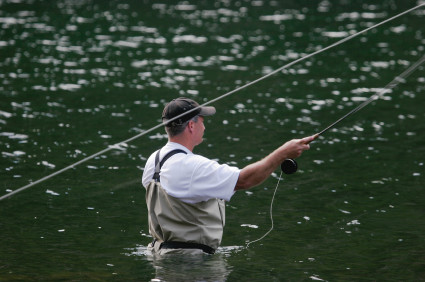 Fly Fishing Casting on a River